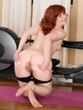 Adorable Redhead Gets Some Naughty Pleasure After A Workout - Picture 8