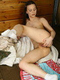 Nubiles.net Sheri Greene - Coed Sheri Greene fingers her juicy straight girly guy doggystyle with her skirt pulled up