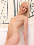 Slim And Sexy Blonde Amateur Pounds Her Shaved Pussy With Her Fingers - Picture 3