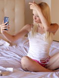 Gorgeous Blonde Masturbates After Taking Naughty Pictures Of Herself - Picture 1