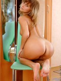 Adorable Babe With Shaved Pussy And Handful Boobs Strips Off And Gets Naked On Top Of Chair - Picture 5