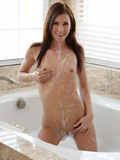 Super Skinny Amateur Shoves A Big Glass Dildo Into Her Dripping Pussy - Picture 7
