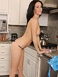 Horny Beautiful Nubile Babe Masturbates With A Kitchen Tools In The Kitchen - Picture 4