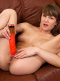 Playful Nubile Stuffs Her Tight Shaved Pussy With A Huge Dildo - Picture 14