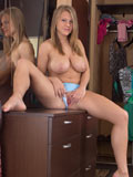Gorgeous Nubile Stuffs Her Twat With A Vibrating Dildo - Picture 4