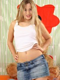 Long Haired Amateur Vova Stripping Down Her White Undies With Her Petite Boobs Pop Out - Picture 2