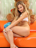 Long Haired Amateur Vova Stripping Down Her White Undies With Her Petite Boobs Pop Out - Picture 7