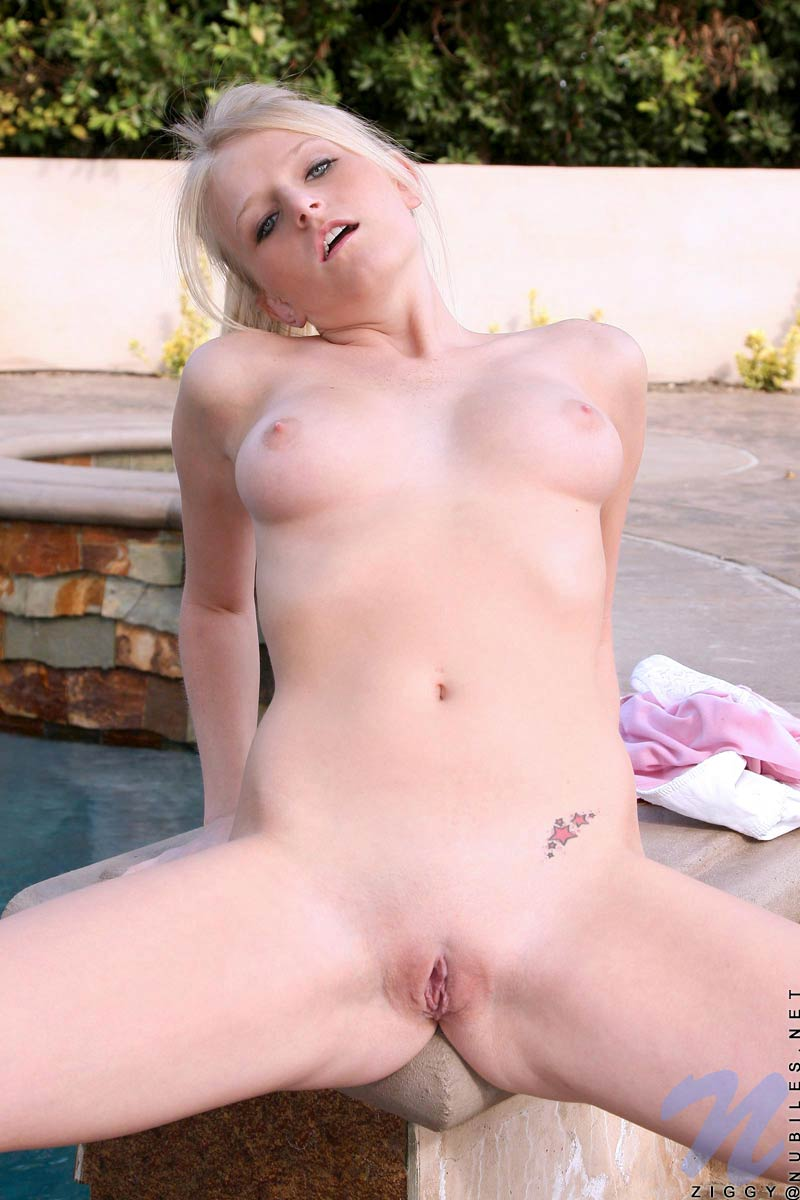 Blonde nubile first time nude and have