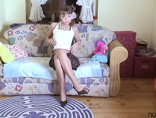 Nadine loves to caress her small perky tittysvideo