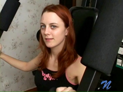 Hottie talks about herself while she gets interviewed from Nubiles.net