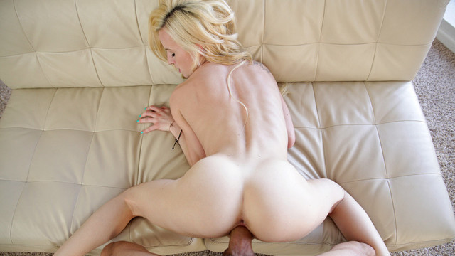 Tiny blonde Skylar Green gags on a hard cock before fucking itvideo