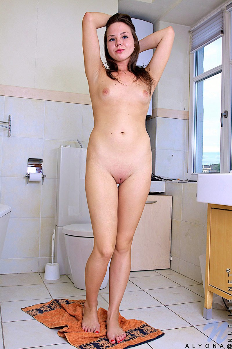 naked girl in the bath room